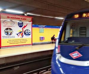 Publicidad en el Metro de Madrid (Linea 9 Valdebernardo)