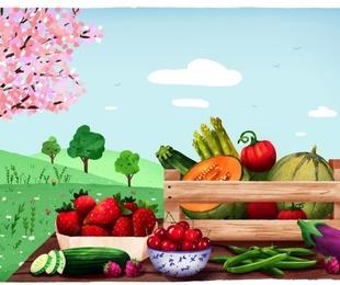 Las frutas y verduras de junio - CHARLOTTE DE YUKA