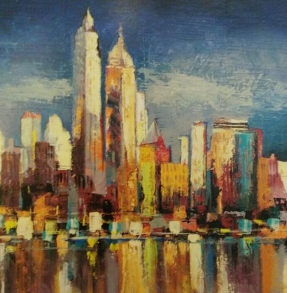 Florio. Nueva York, reflejo matinal (CUA): CATALOGO de Quadrocomio La Casa de los Cuadros desde 1968