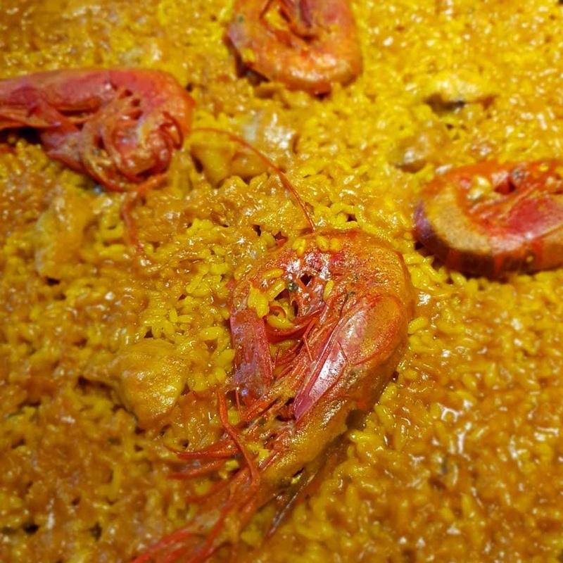 Paella de Rape y Carabineros en Restaurante Pepito la flor