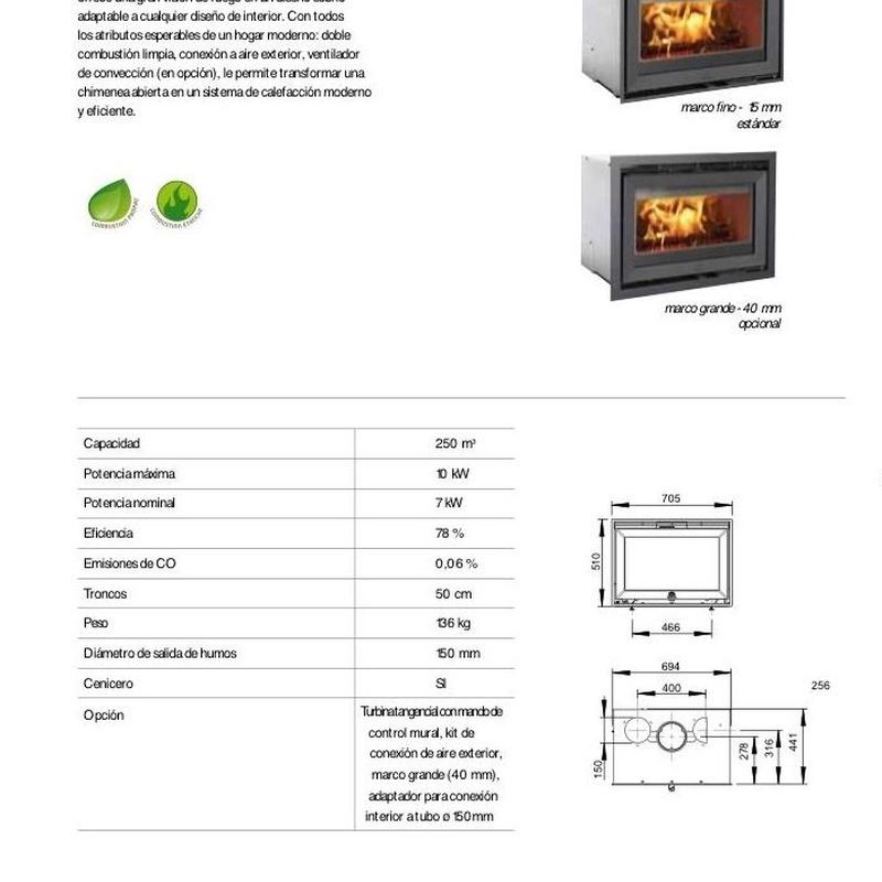 Insert C24: Catálogo de Chimeneas Ferrol