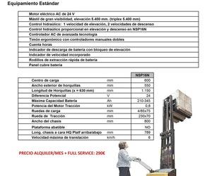 RENTING APILADOR CATERPILLAR 1600 KG