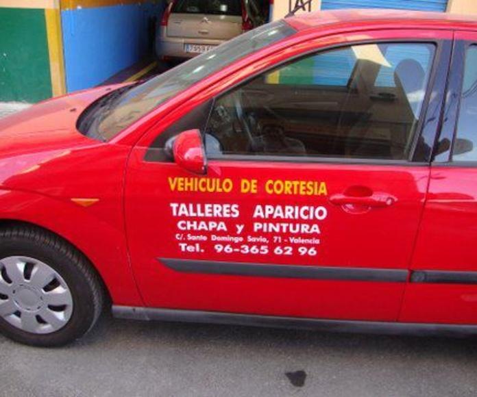 Vehículo de cortesía: CATÁLOGO de Talleres Aparicio Autochiquero