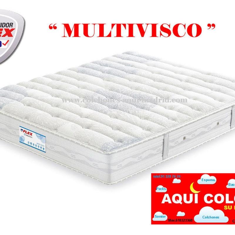 Colchón Flex Multivisco Muelles Multielástic+Visco.: CATALOGO de Aquí Colchón