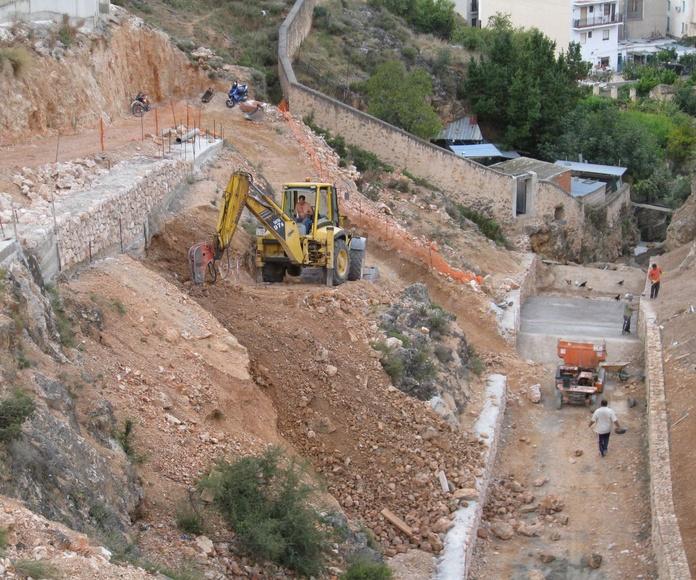 Acondicionamiento de una rambla para encauzamientos de aguas