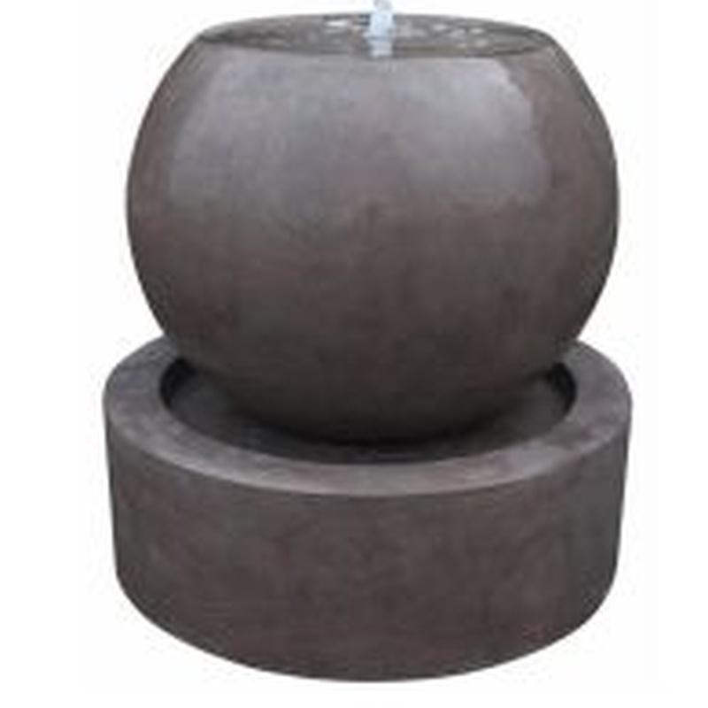 Fuente esfera marrón Valencia