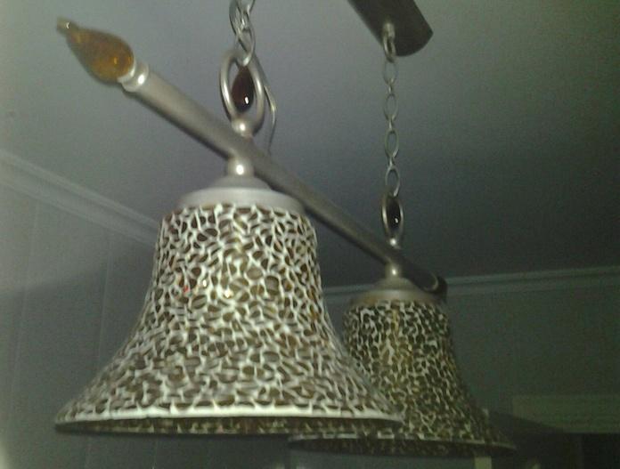 luminaria estilo rustico