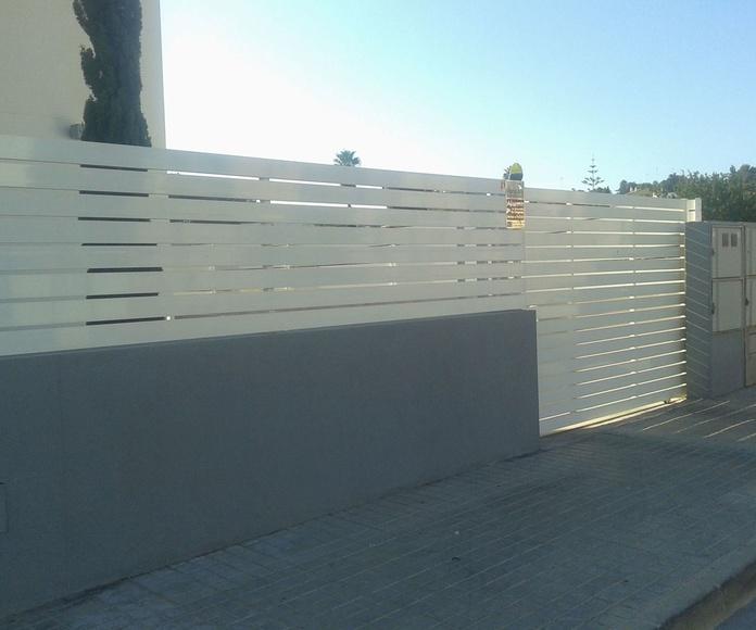 A30 Aluminio barrotes horizontales
