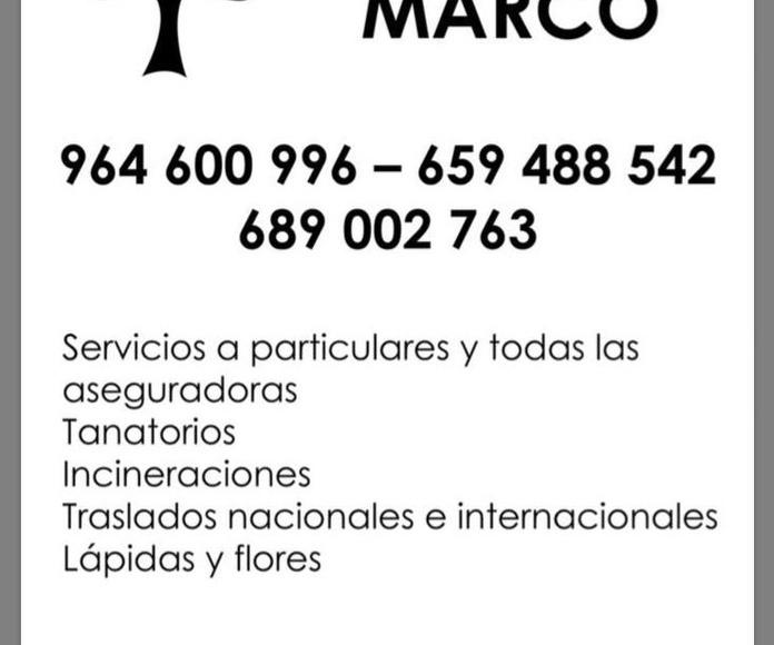 SERVICIOS DEL TANATORIO O