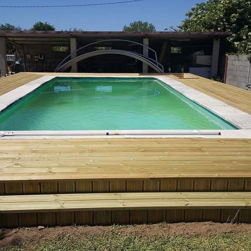 Tarimas para piscinas: Productos y Servicios  de Carpintería Florencio Veiga