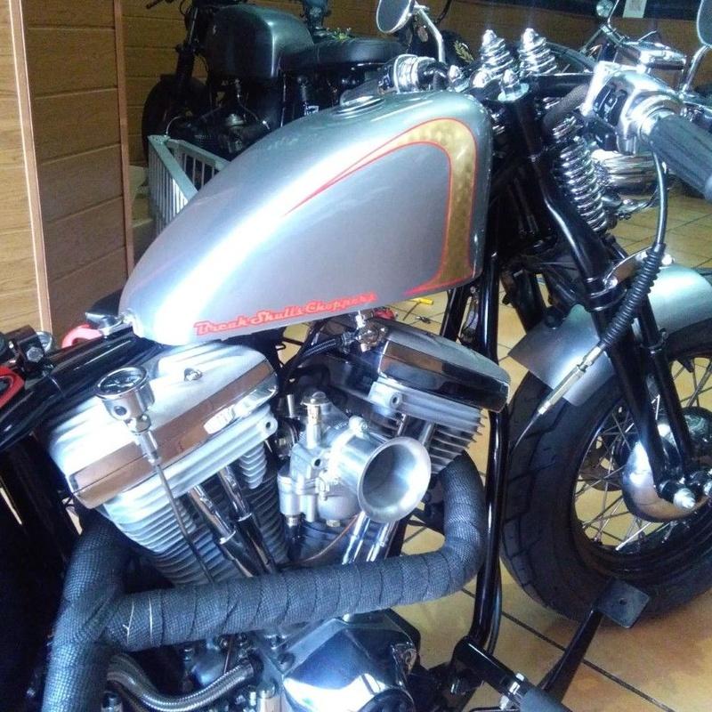 break skull choppers, harley davidson, bobber, personalizar motos, transformacion motos