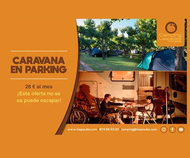 Caravana en el parking