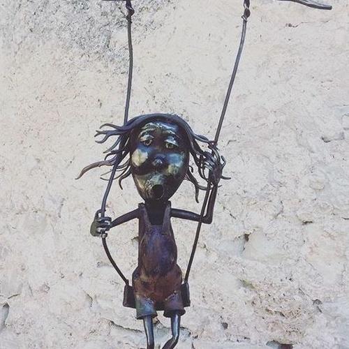 Escultura hierro forjado y chapa