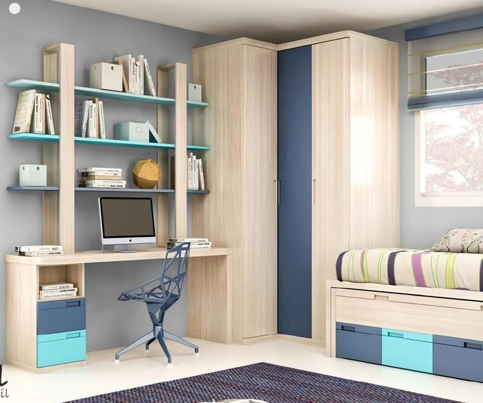 Dormitorio juvenil composición 12
