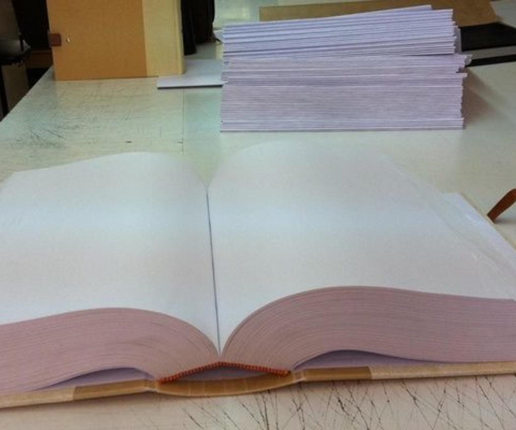La encuadernación de protocolos notariales