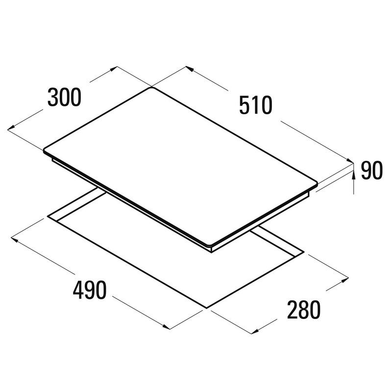 Placa cristal Gas CATA LCI 302 BK: Catálogo de apluscocinas