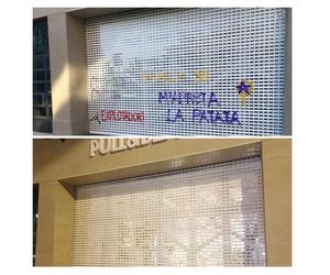 Limpieza de grafitis en persiana automática de metal