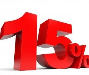 15 % de descuento
