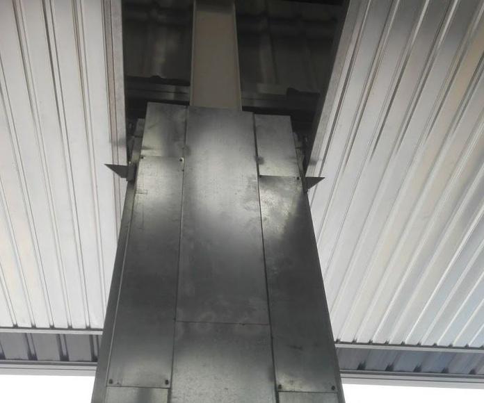 Puertas prelevas basculantes de contrapesos industrial