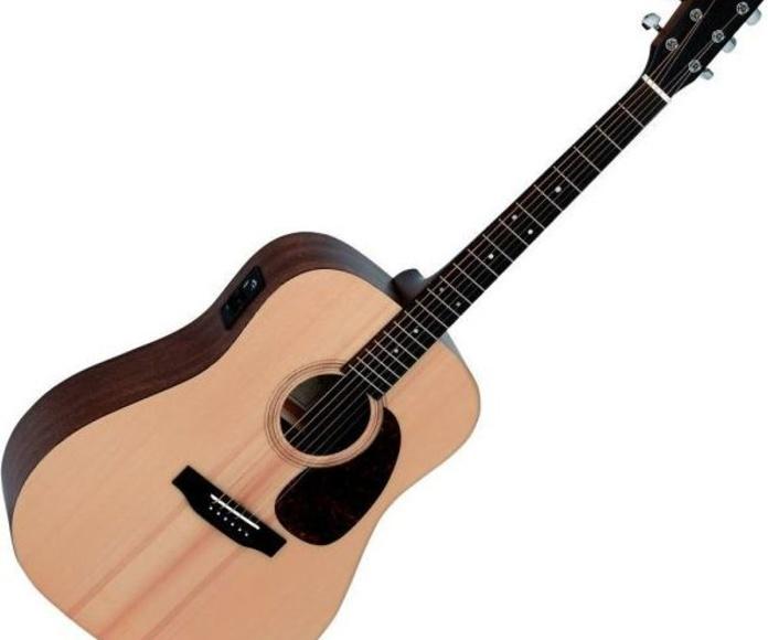 Guitarra electroacustica Sigma DME tapa maciza buena calidad previo