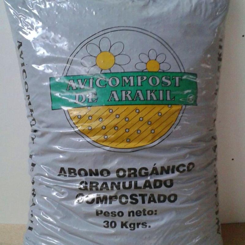Abono orgánico granulado