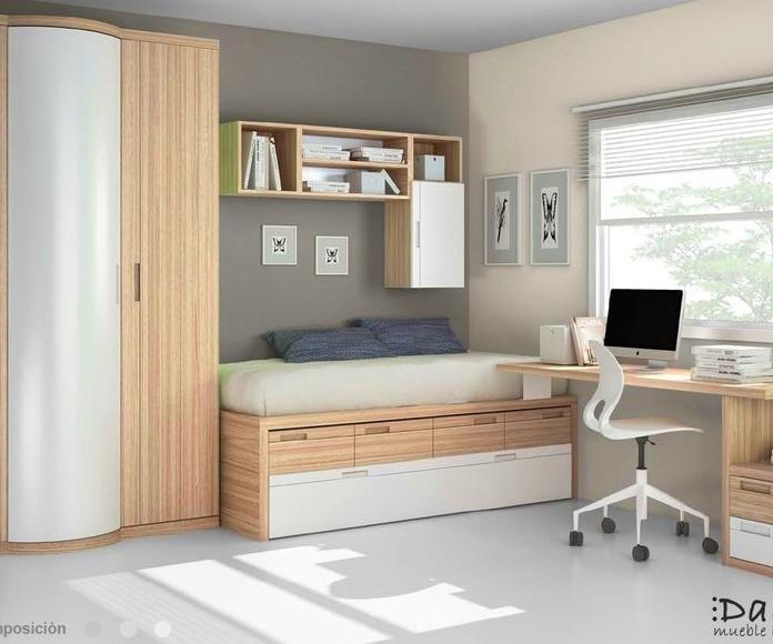 Dormitorio juvenil composición 10