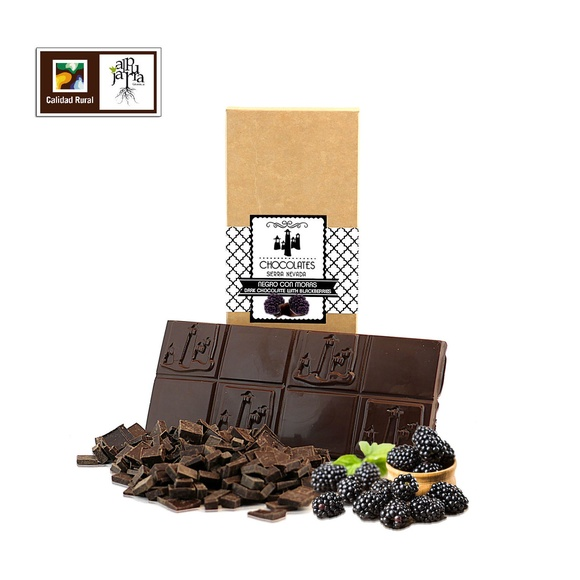 chocolate negro con moras