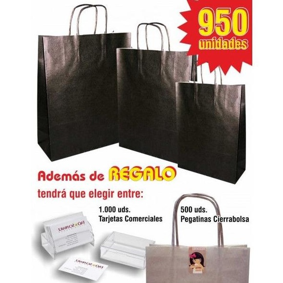 Lote 950 bolsas asa rizada de color: TIENDA ON LINE de Seriprint Serigrafia