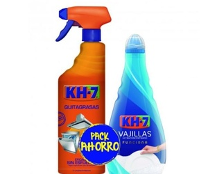 KH7 Limpiador Quitagrasas Spray 750ml + Vajillas Ultraconcentrado a Mano 400ml
