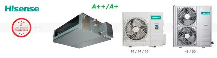 Aire acondicionado HISENSE AUD-18UX4SZKL1 conductos A++ 4500FR ---889€: Productos y Ofertas de Don Electrodomésticos Tienda online