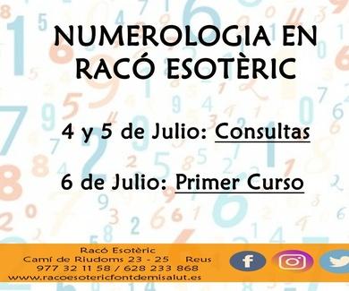 Nuevo fin de semana de Numerologia en Reus