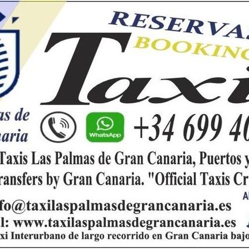 """Reservas de Taxis Las Palmas de Gran Canaria, Puertos y Aeropuerto. Bookings, Transfers by Gran Canaria. """"Official Taxis Cruises Ports."""""""