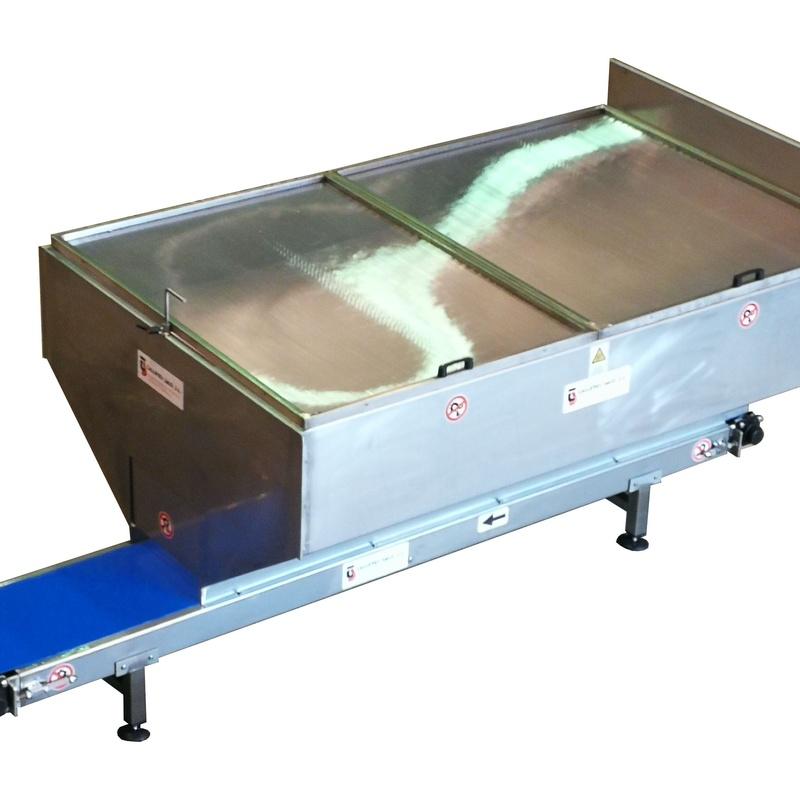 Cinta Transportadora  Inox PVC Alimentario BLUE Tolva Contenedor