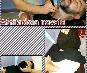 Afeitado a navaja con toalla aromatizada