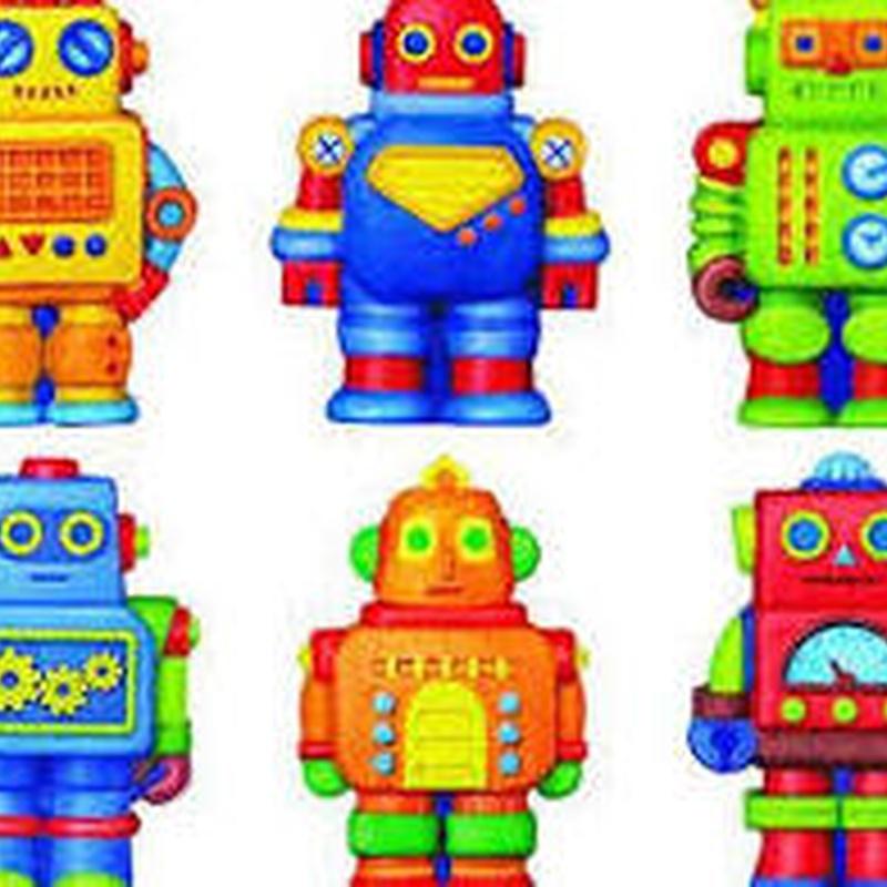 Moldea y pinta imanes robots para nevera