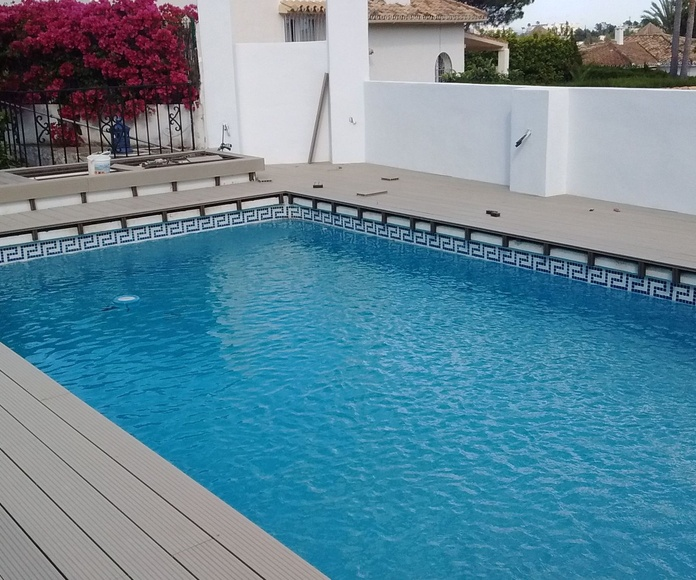 Instalación de Tarima de exterior piscina