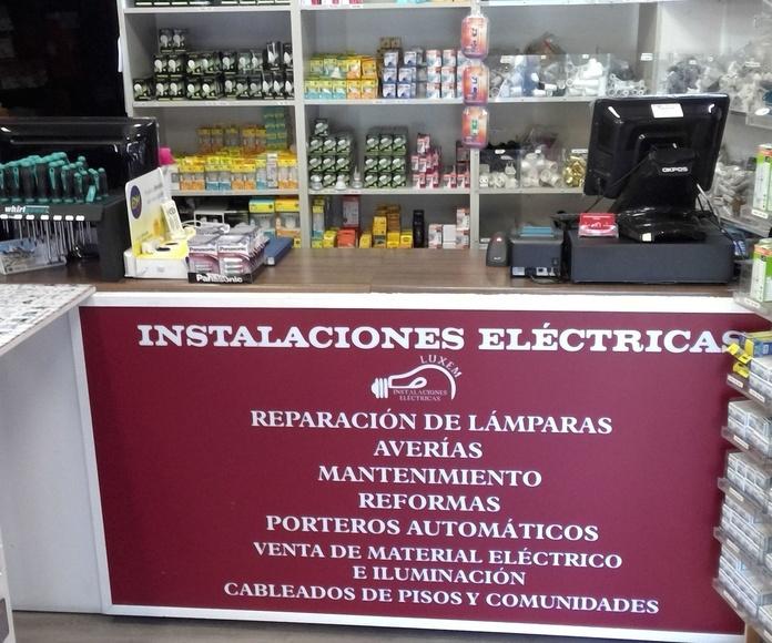 tienda de material de electricidad en Arganzauela