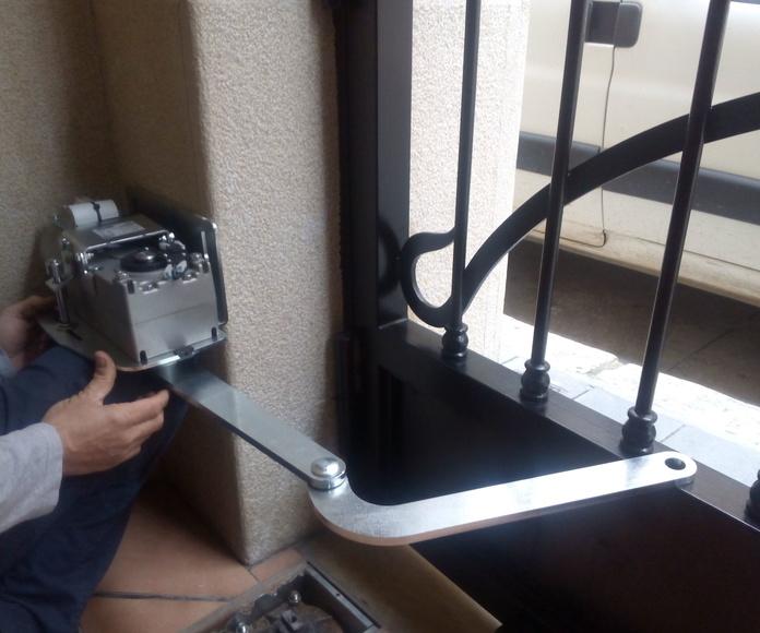 Planifricación y medición para colocar motor articulado