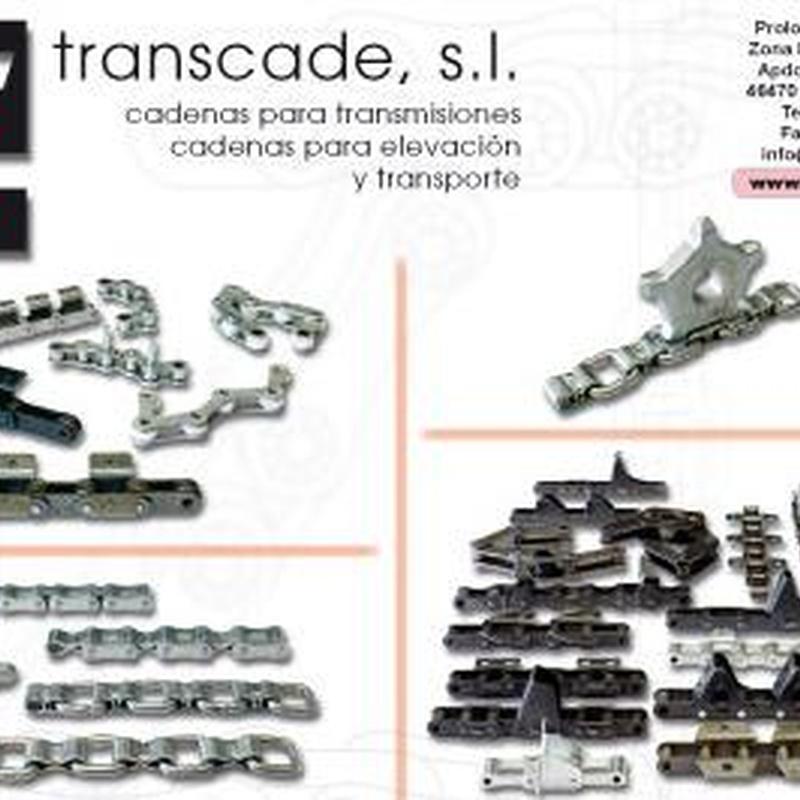 Cadenas transmisión, elevación y transporte: Catálogo de Transcade