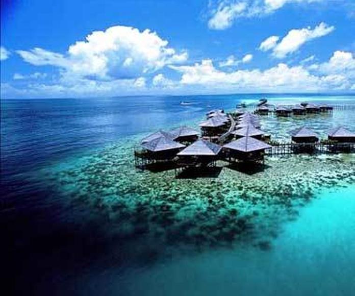 Imagen by Travelandleisure.com Cortesía de Sipadan Water Village Resort