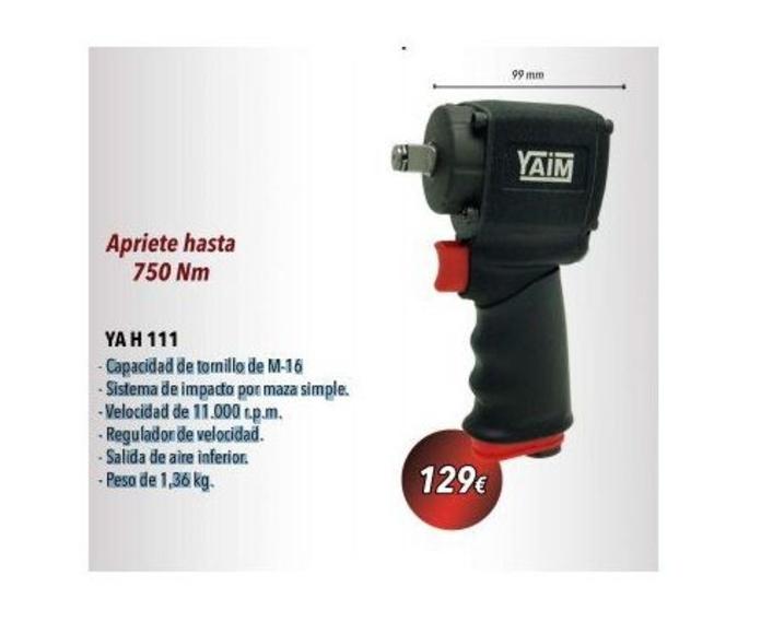 """Mini Llave de Impacto 1/2""""  YA H 111: Productos y servicios de Suministros Martín, S.A."""