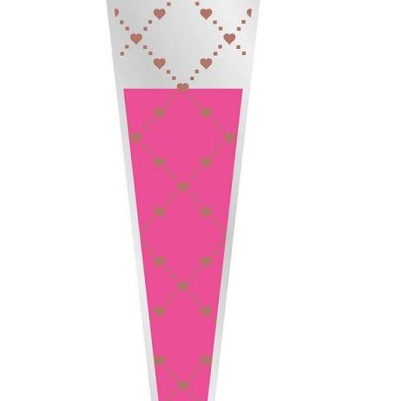 "PQTE x100UD FUNDA INDIVIDUAL PARA LA ROSA MODELO ""Foxy Flirt"" (65x14x3cm)/ ROSA REF: G18101 PRECIO: 7€/PQTE"