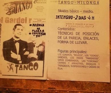 Cursos intensivos de tango y milonga