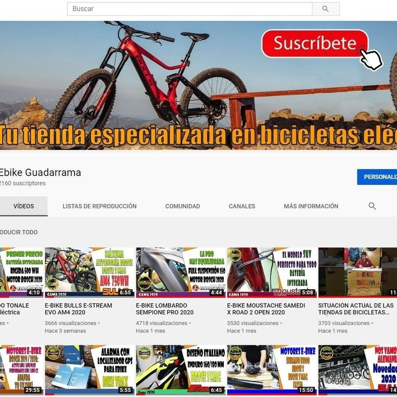CANAL YOUTUBE EBIKE GUADARRAMA: Productos de E-Bike Guadarrama