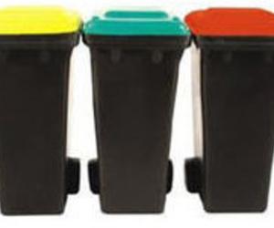 Cubos de basura en Chamberí