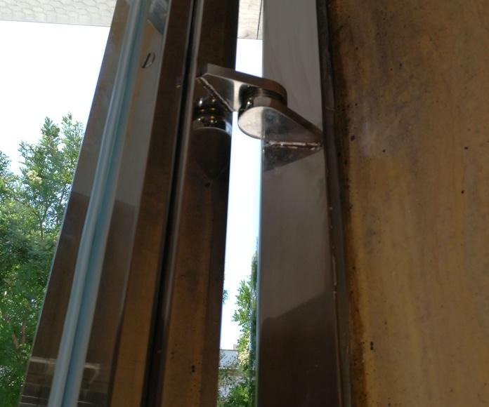 Bisagras de diseño para puerta de seguridad de acero inoxidable