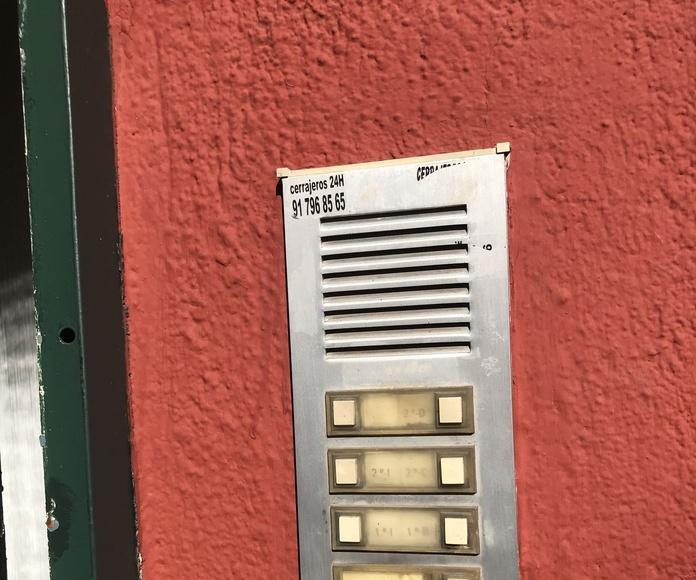 Reparación de porteros automáticos en el Barrio del Pilar