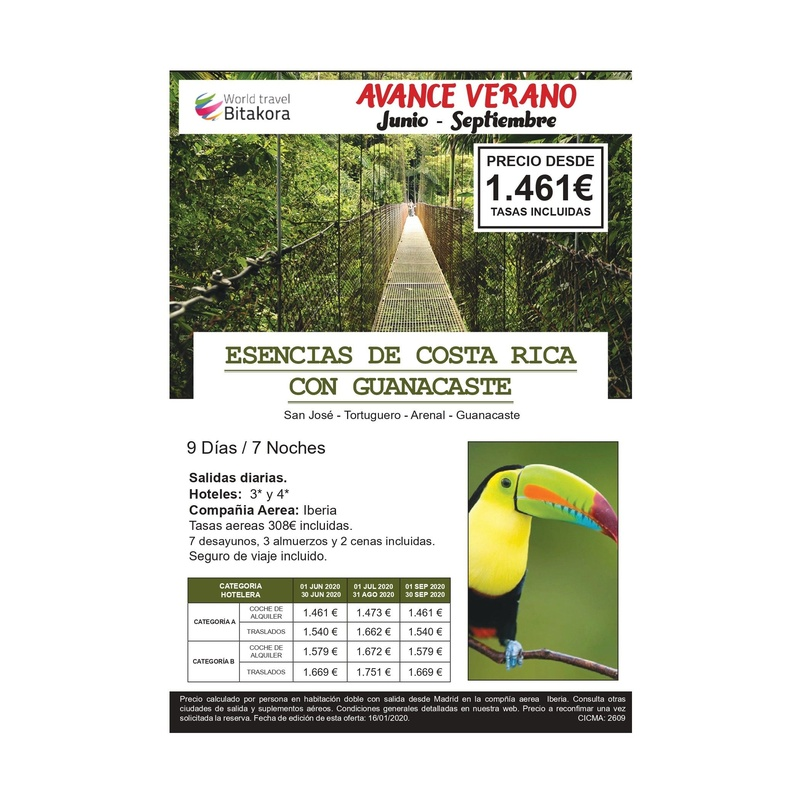 Esencia de Costa Rica con Guanacaste. Verano Junio - Septiembre: Contrata tu viaje de Viajes Iberplaya