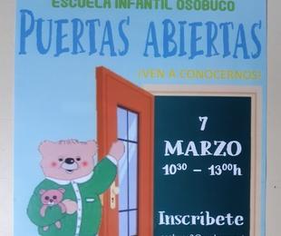 SÁBADO 7 DE MARZO JORNADA DE PUERTAS ABIERTAS 10.30-13.00 H