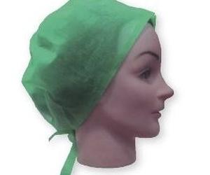 Gorro de cirujano con cintas color verde